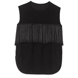 Sleeveless top, 001 Black, hi-res