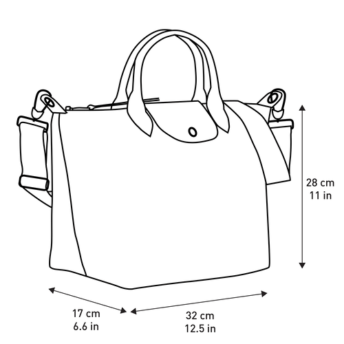 Top handle bag M, Navy - View 5 of  5 -