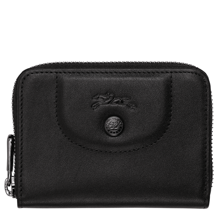 Zipped card holder, Black - View 1 of  2 - zoom in