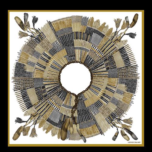 Colección otoño-invierno 2021 Pañuelo de seda, Dorado