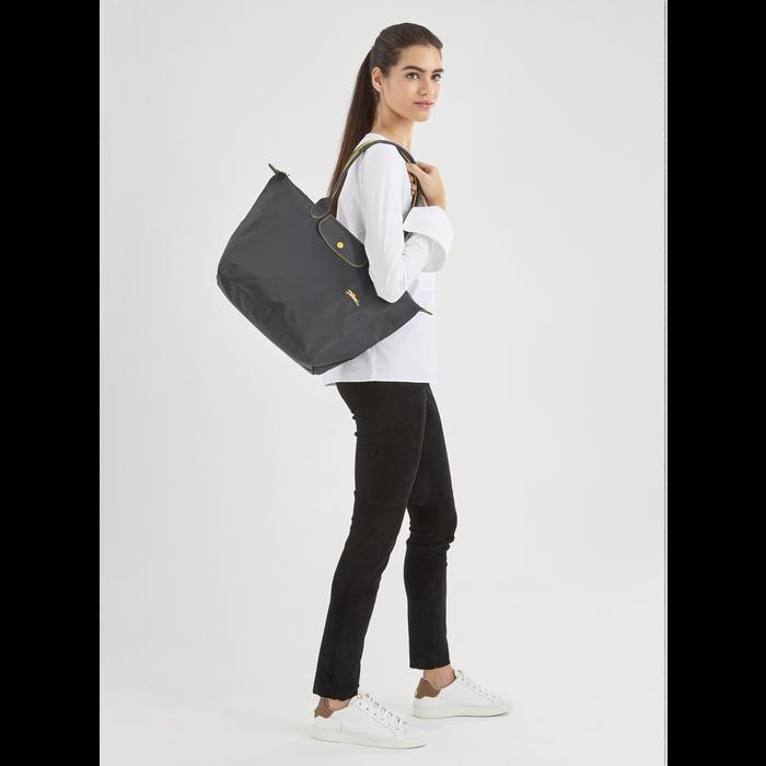 Le Pliage Club Shoulder bag L, Gun metal