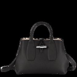 Top handle bag M, 001 Black, hi-res