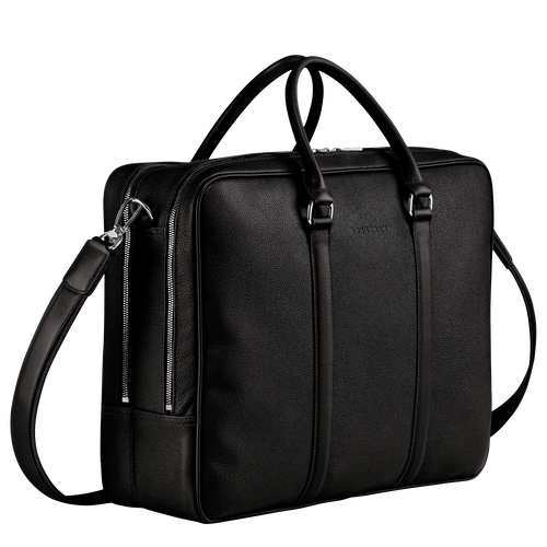 Le Foulonné Briefcase L, Black