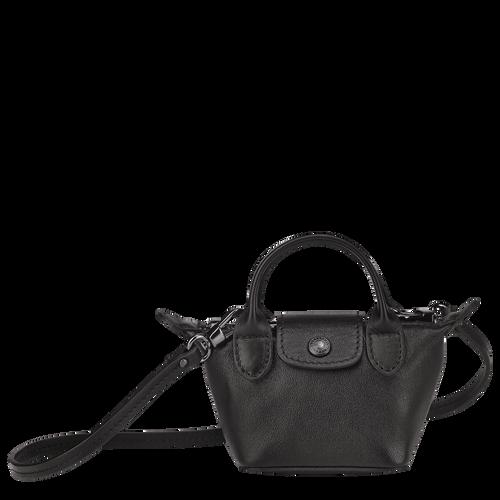 Crossbody bag XS Le Pliage Cuir Black (10099757001) | Longchamp US