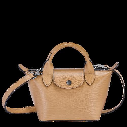 Top handle bag XS Le Pliage Cuir Beige (L1500HXC005) | Longchamp US