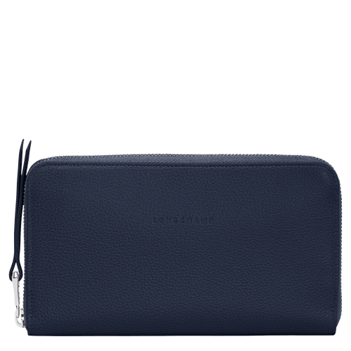 Long zip around wallet, Navy, hi-res - View 1 of 3