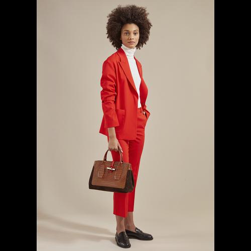 Roseau Top handle bag M, Cognac