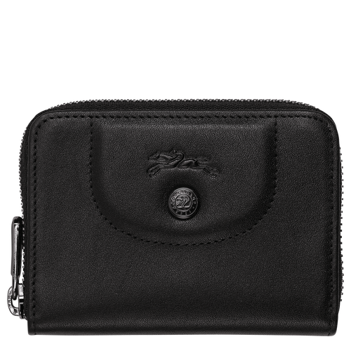 Zipped card holder, Black, hi-res - View 1 of 2