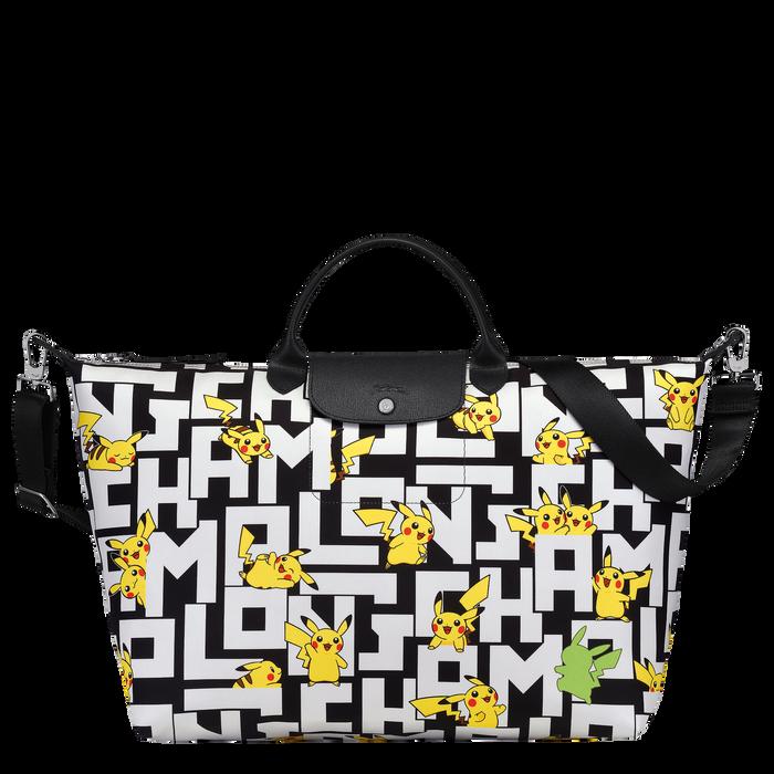 Reisetasche L, Schwarz/Weiss - Ansicht 1 von 3 - Zoom vergrößern