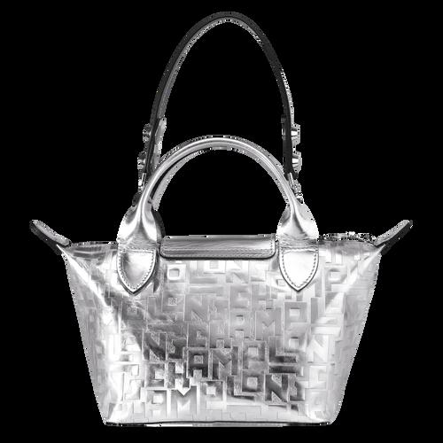 View 3 of Mini top-handle bag, Silver, hi-res
