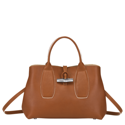 Top handle bag M, Cognac - View 1 of  5 -