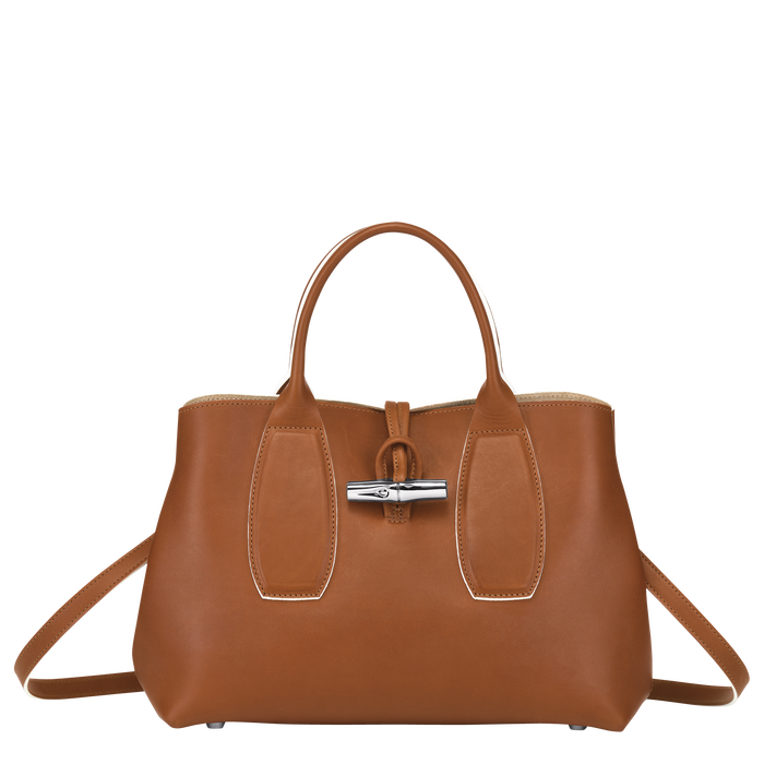 Top handle bag M, Cognac - View 1 of  5 - zoom in