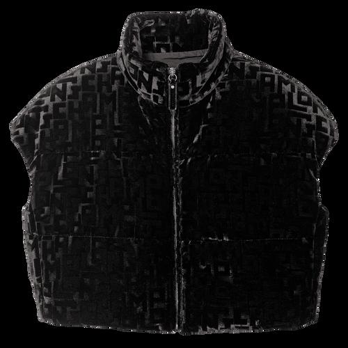 Gewatteerde jas zonder mouwen, Zwart, hi-res - View 1 of 1