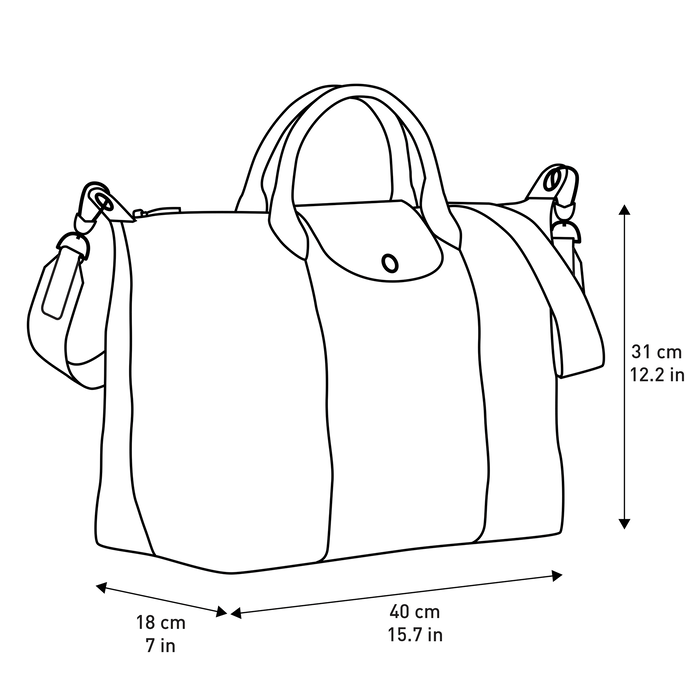 Top handle bag L, Navy - View 4 of 4 - zoom in