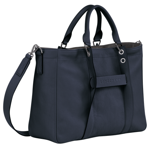 Top handle bag M, Midnight blue - View 2 of  3 -