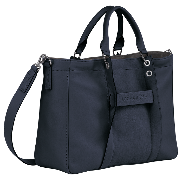 Top handle bag M, Midnight blue - View 2 of  3 - zoom in
