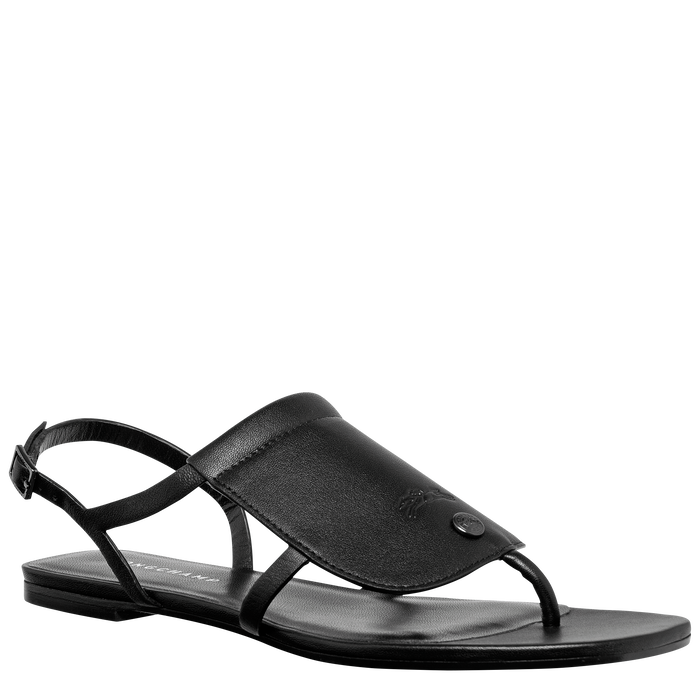 Flat sandals, Black/Ebony - View 2 of  3 - zoom in