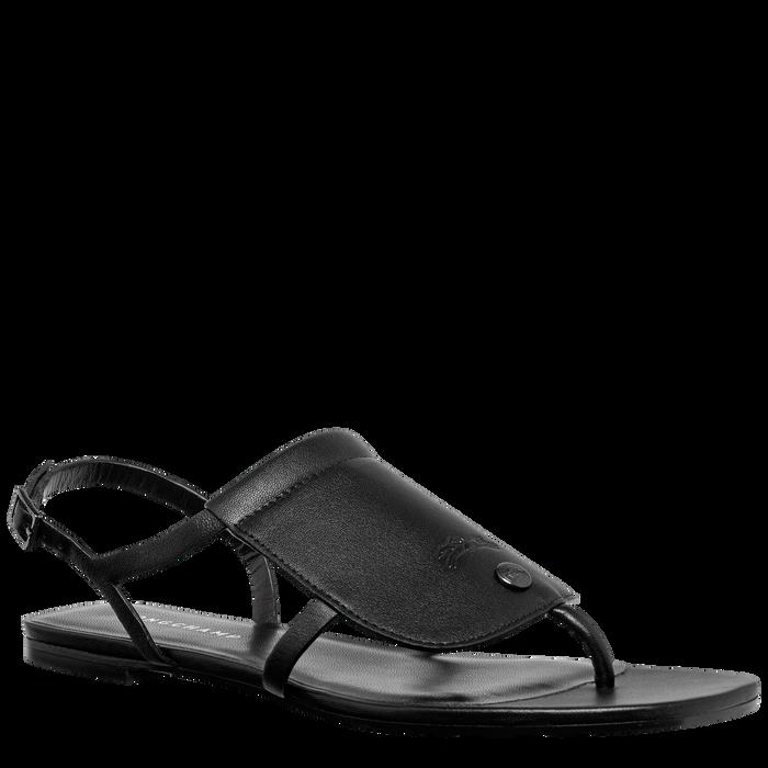 Flat sandals, Black/Ebony - View 2 of  3 - zoom in