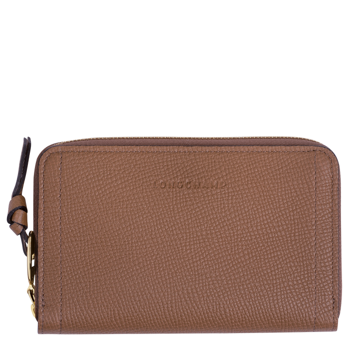 Mailbox Compact wallet, Cognac