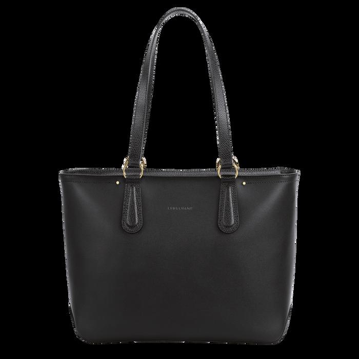 Zipped shopping bag, Black/Ebony - View 1 of  3 - zoom in