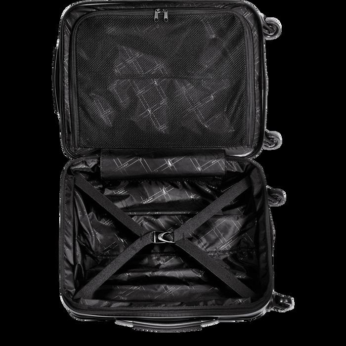 Koffer voor handbagage, Zwart/Ebbenhout - Weergave 3 van  3 - Meer inzoomen.