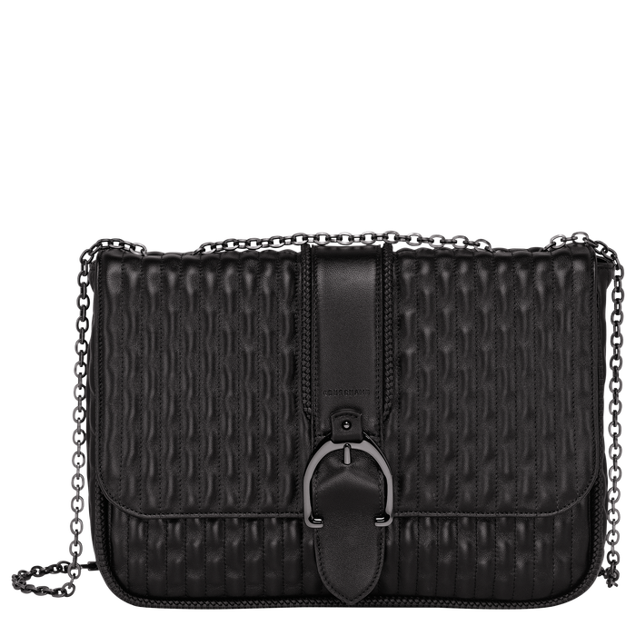 Crossbody bag L, Black/Ebony - View 1 of 3 - zoom in