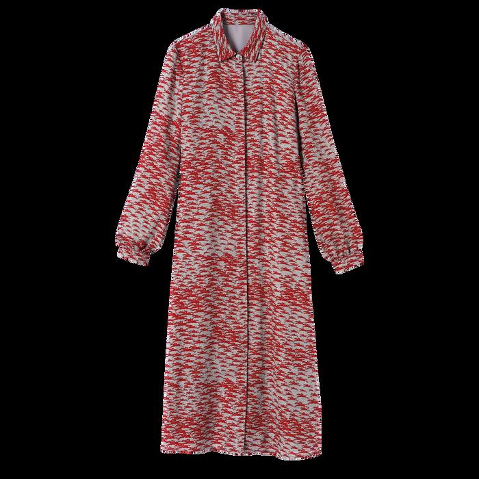 Colección otoño-invierno 2021 Vestido largo, Rojo