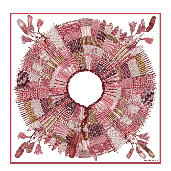 Fall-Winter 2021 Collection Silk scarf, Coral