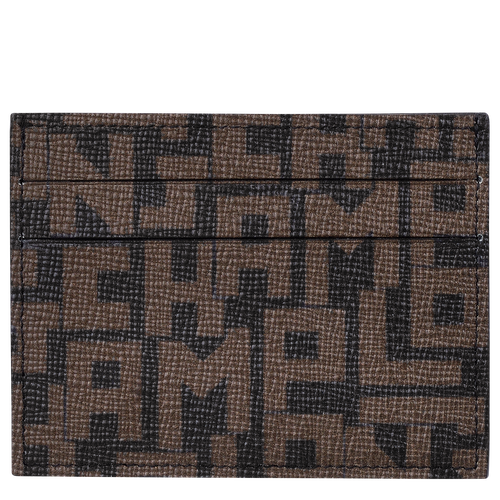 Card holder, Black/Khaki, hi-res - View 1 of 2