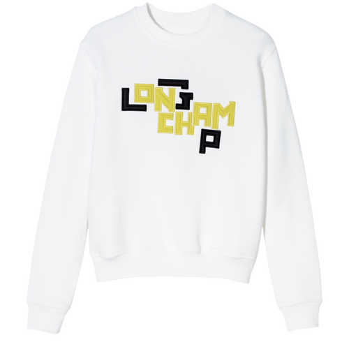 Sweatshirt, 007 Blanc, hi-res