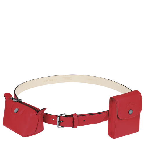 Le Pliage Cuir Ladies' belt, Red