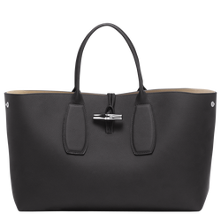 Top handle bag L, 001 Black, hi-res