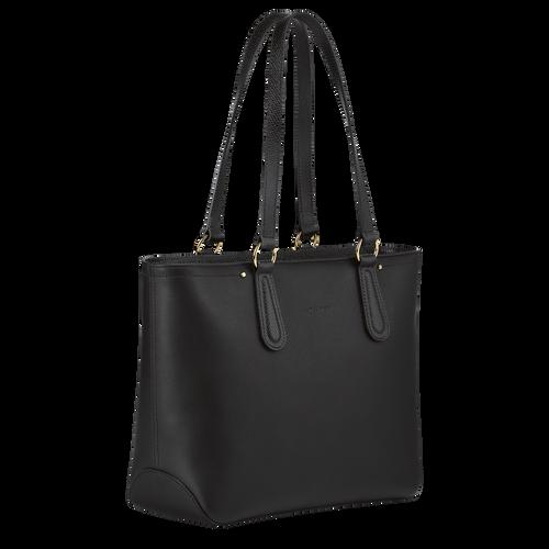 Zipped shopping bag, Black/Ebony - View 3 of  3 -