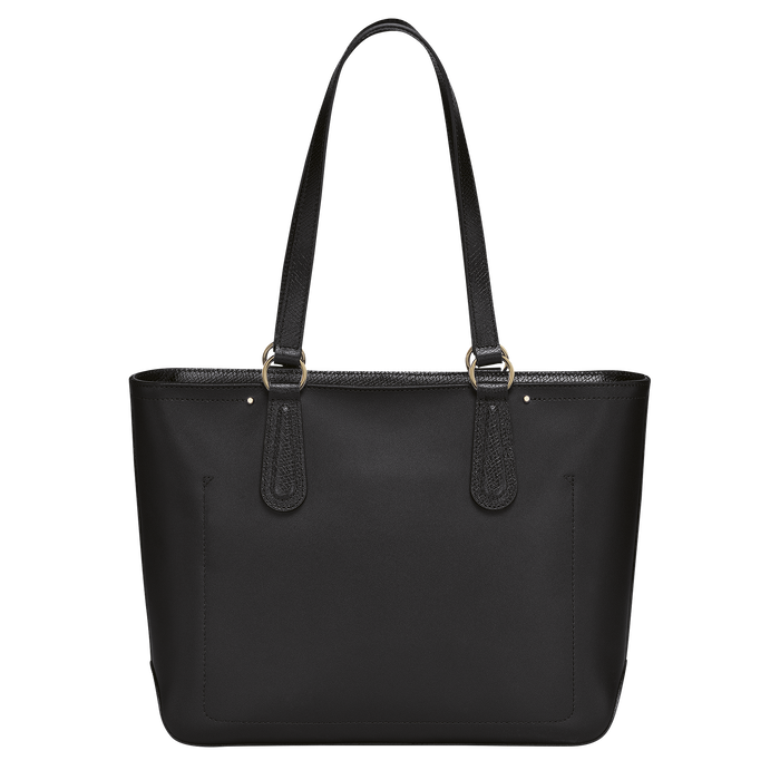 Zipped shopping bag, Black/Ebony - View 3 of  3 - zoom in