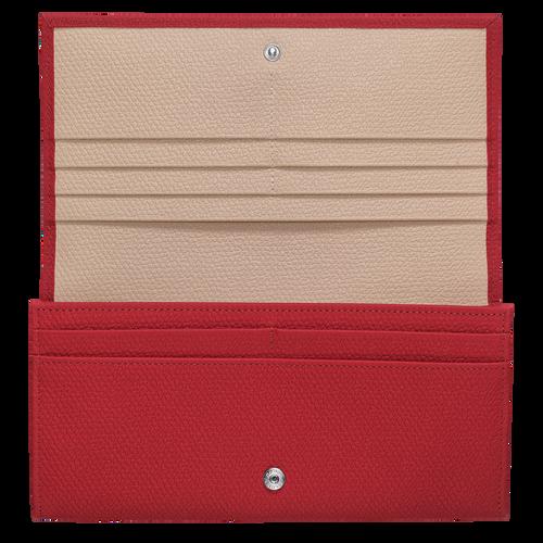 Lange Geldbörse mit Überschlag, Rot - Ansicht 2 von 2 -