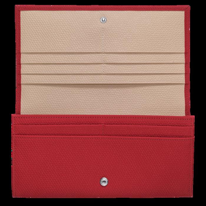 Lange Geldbörse mit Überschlag, Rot - Ansicht 2 von 2 - Zoom vergrößern