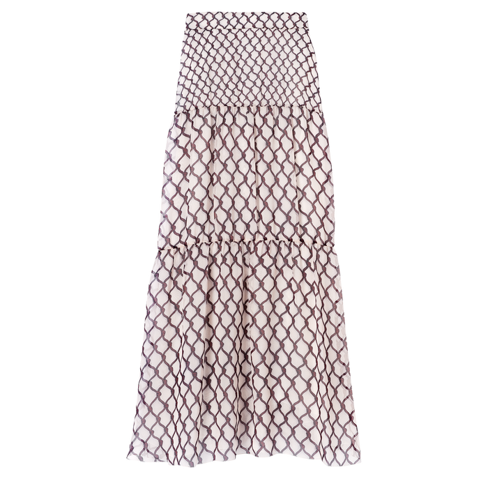 Spring-Summer 2021 Collection Long skirt, Burgundy