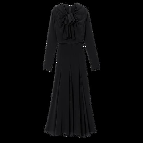 Langes Kleid, Schwarz/Ebenholz - Ansicht 1 von 1 -