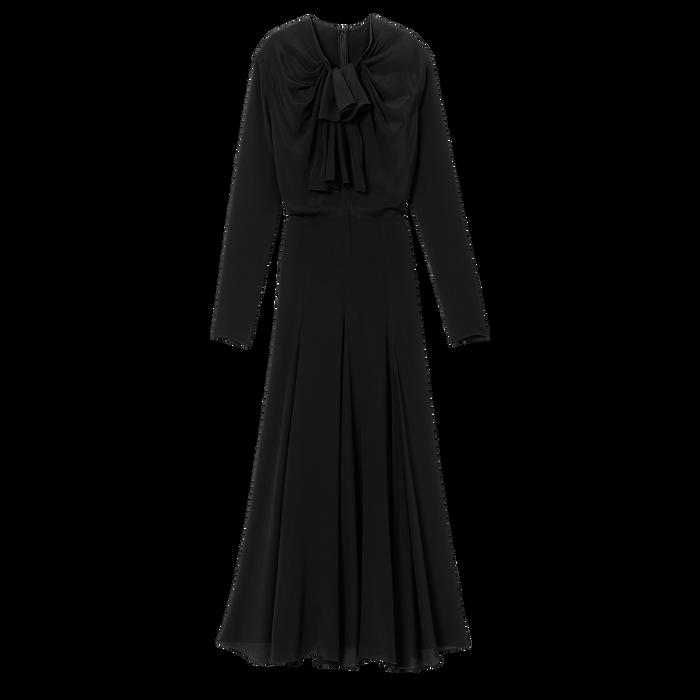 Langes Kleid, Schwarz/Ebenholz - Ansicht 1 von 1 - Zoom vergrößern