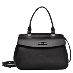 Top handle bag M, 001 Black, hi-res