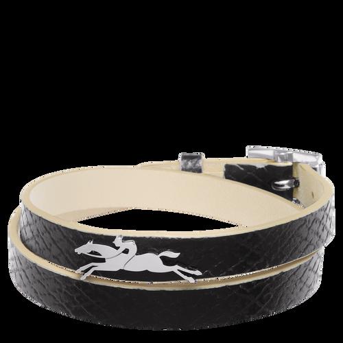 Bracelet double tours, 001 Noir, hi-res