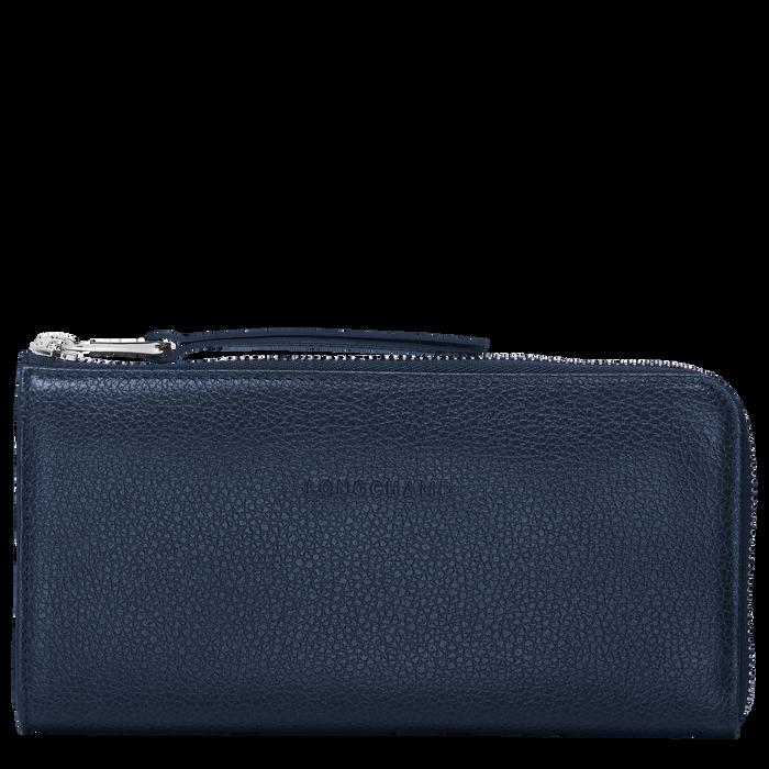 Long zip around wallet, Navy, hi-res - View 1 of 2