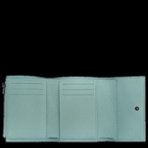 Brieftasche im Kompaktformat, Salbei - Ansicht 2 von 2 -