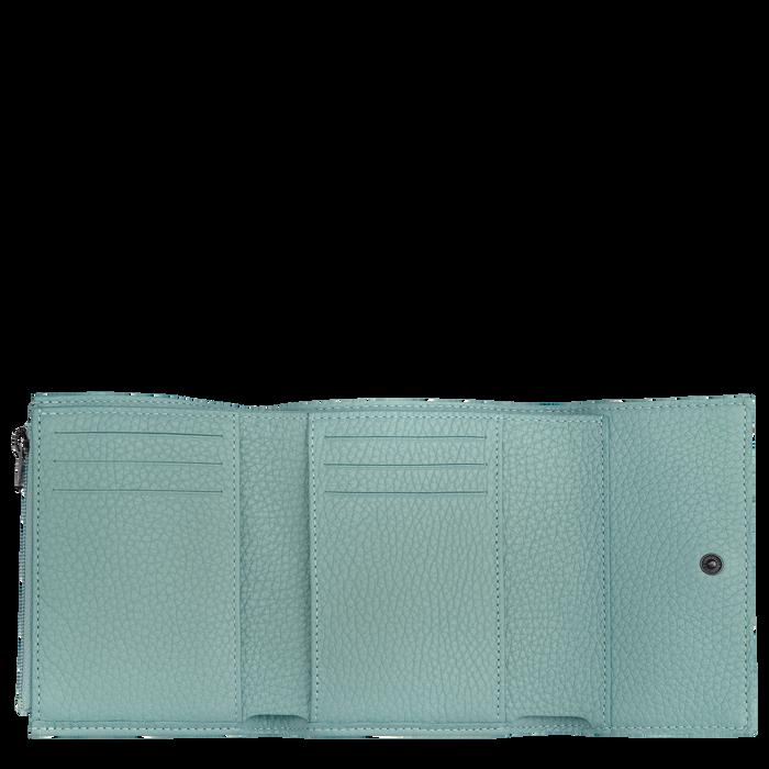 Brieftasche im Kompaktformat, Salbei - Ansicht 2 von 2 - Zoom vergrößern