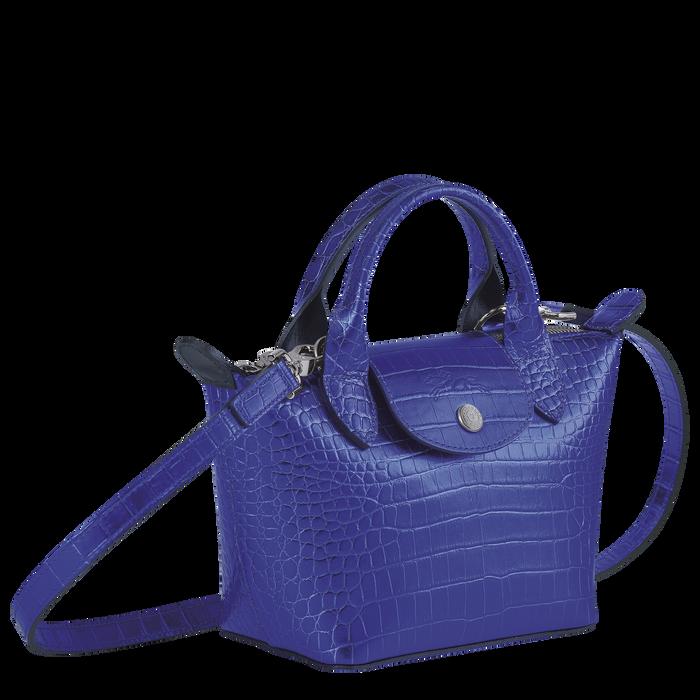 Le Pliage Cuir Top handle bag XS, Blue