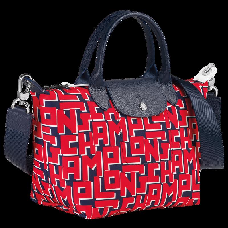 Le Pliage LGP Top handle bag S, Navy/Red