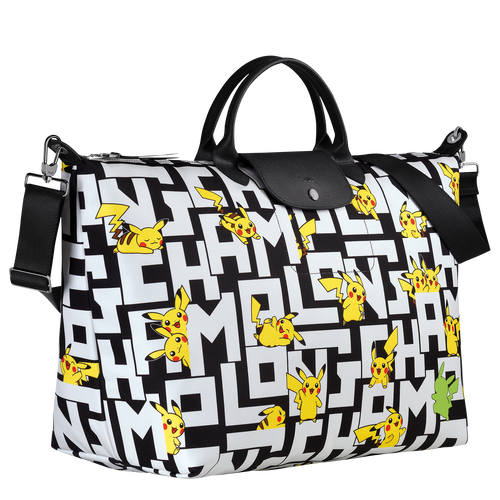 Travel bag L Longchamp x Pokémon Black/White (L1624HUT067) | Longchamp US