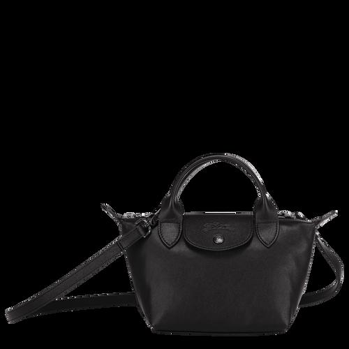 Sac porté main XS Le Pliage Cuir Noir (L1500757001) | Longchamp FR