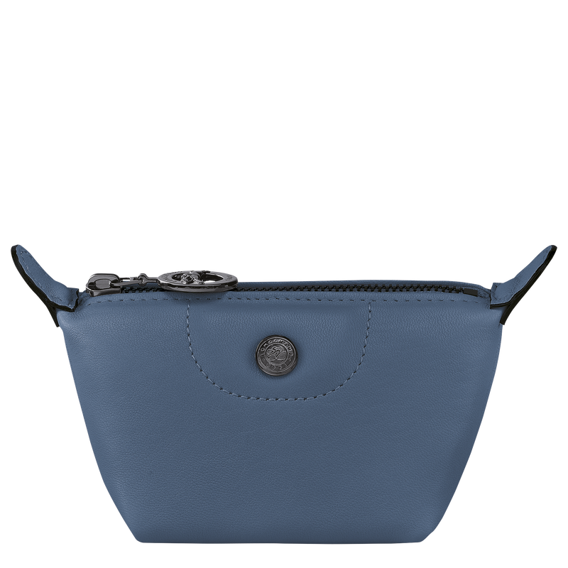 Le Pliage Cuir Coin purse, Pilot blue