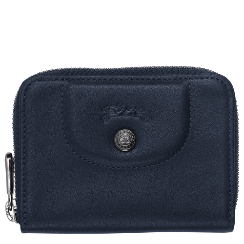 Zipped card holder, Navy - View 1 of  2 -